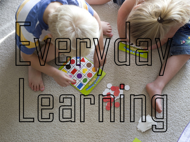 Everyday Learning – Preschool at home