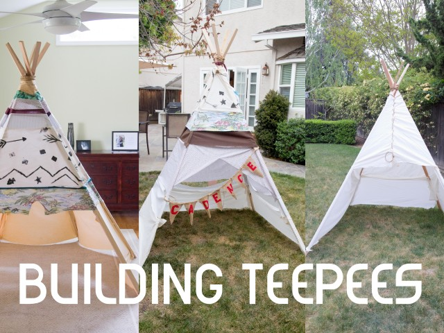"Nothing Says ""Nesting"" Like Building Teepees"